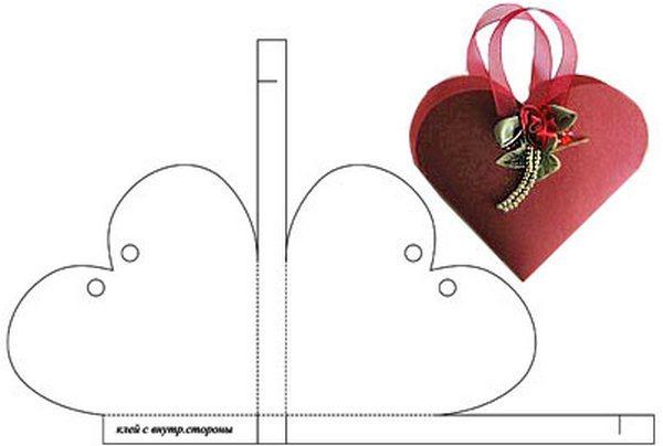 Коробочка в виде сердечка