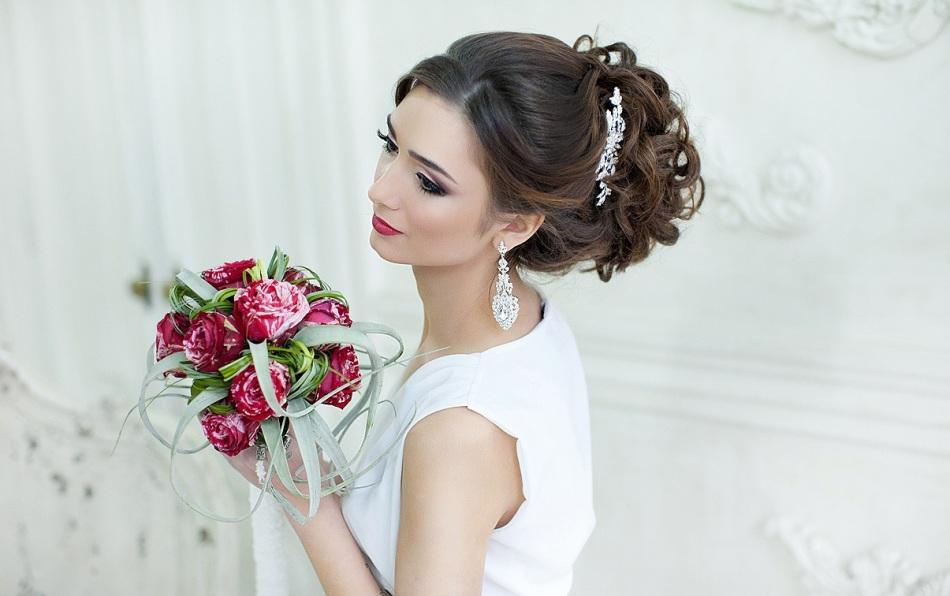 Причёски свадебные собранные волосы