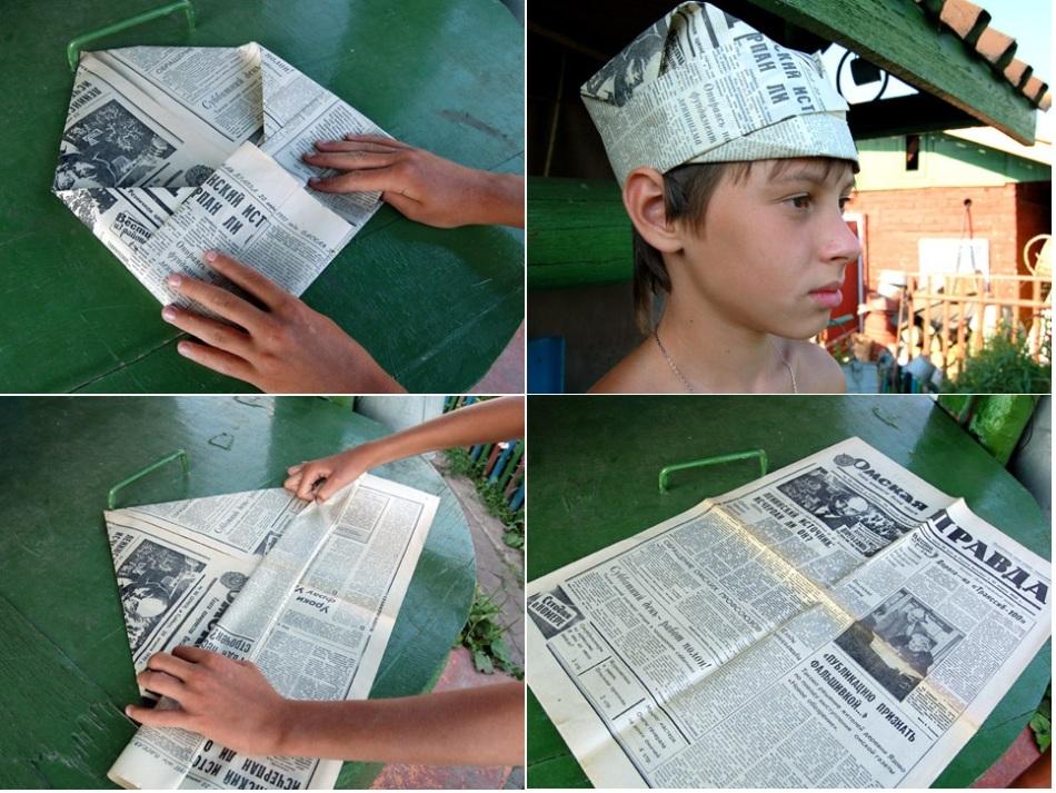 Как сделать шапку для маляров 453