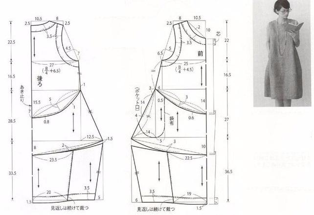 Выкройка платья и юбки бохо