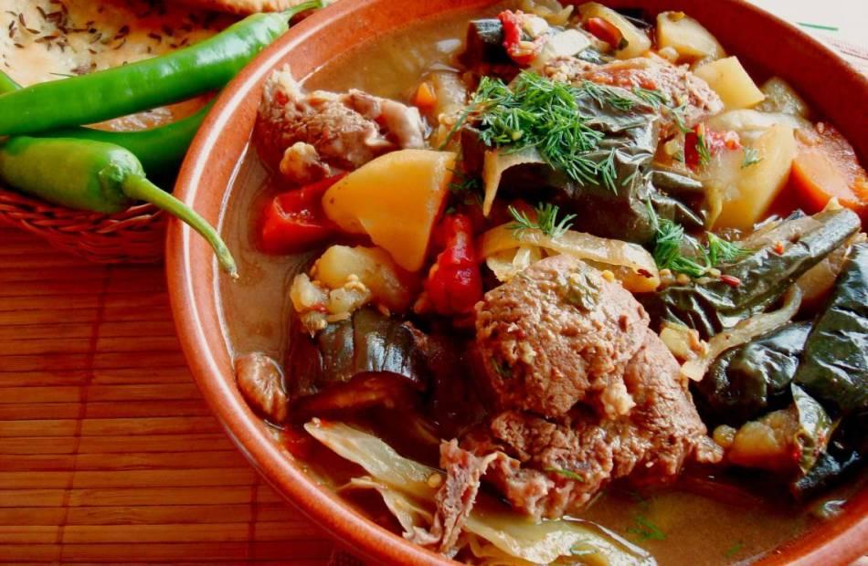 говядина с овощами в казане рецепт с фото