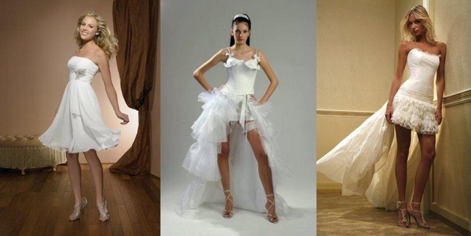 Необычные фасоны для свадебного платья