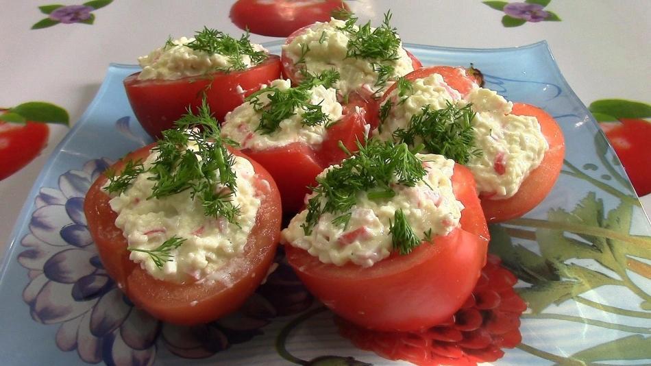 Рецепты блюд из сыра и помидоров