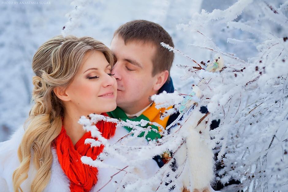 Свадебная фотосессия зимой на улице идеи фото