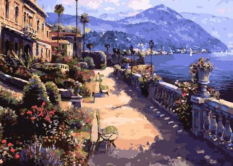 Картина по номерам в средиземноморском стиле