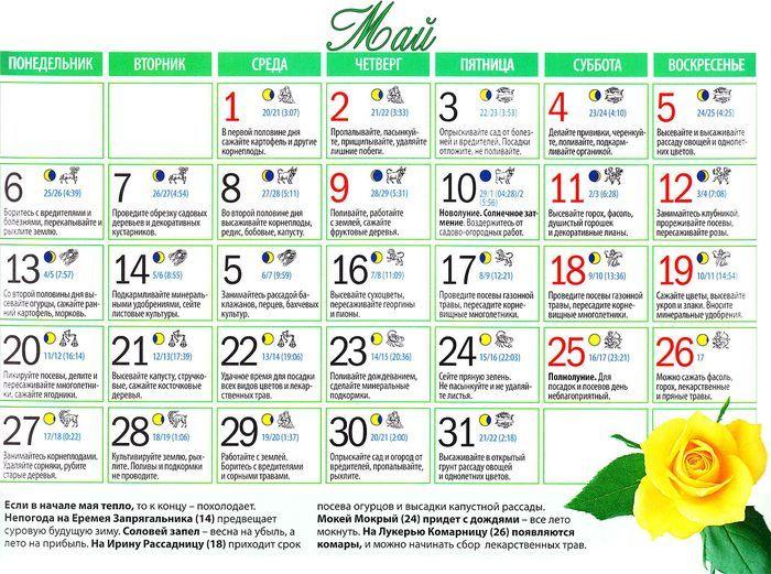 Дальний восток календарь посадок