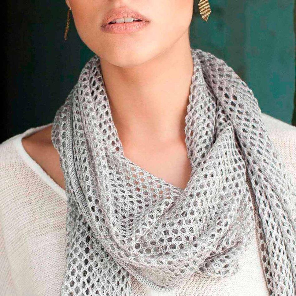 138Как связать ажурный шарф спицами для начинающих