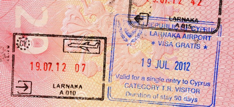 Виза на кипр цена