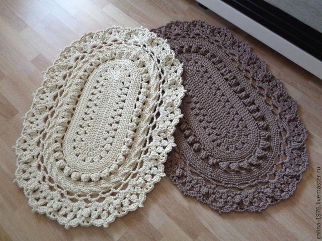 схемы вязания ковриков для ванной крючком