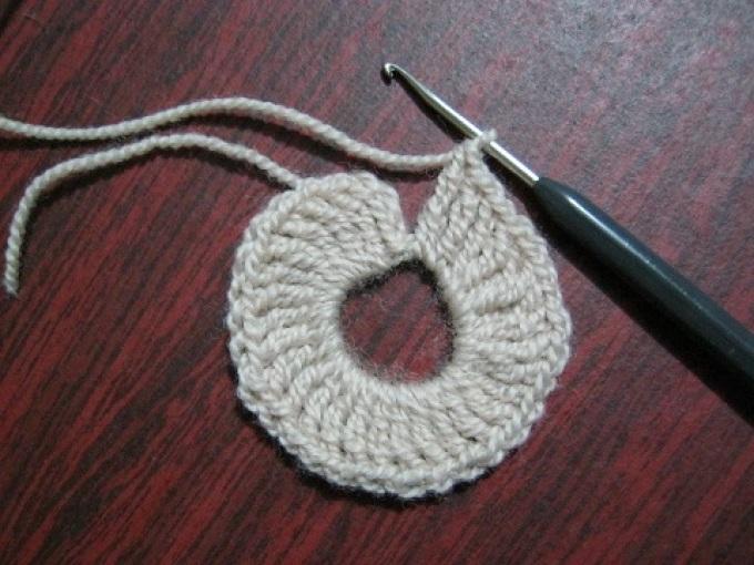 Салфетка круглая крючком