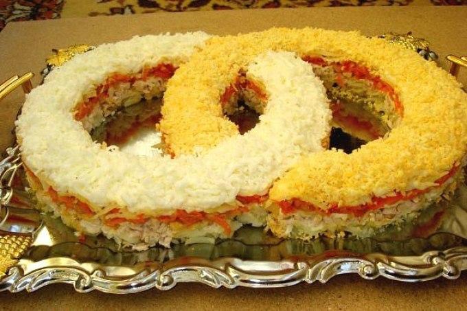 Салаты на свадебный стол с и рецептами