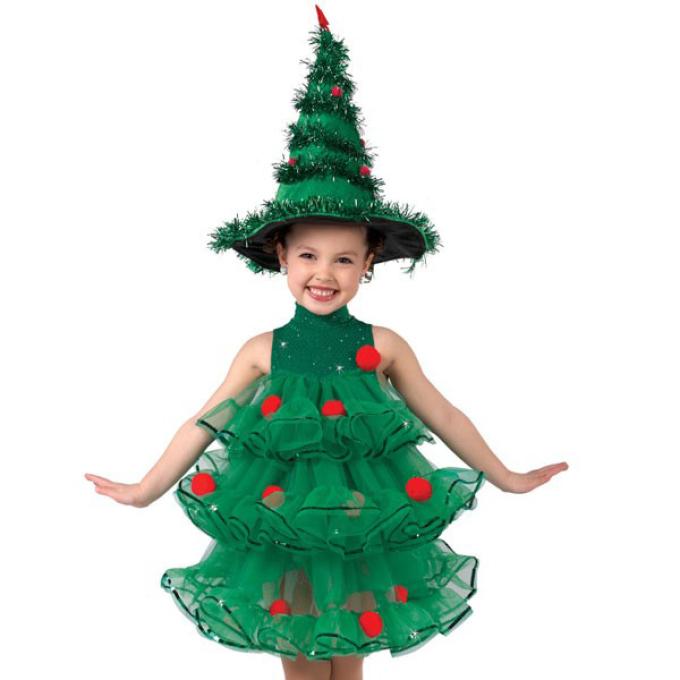 Костюм на новый год елочки для девочек