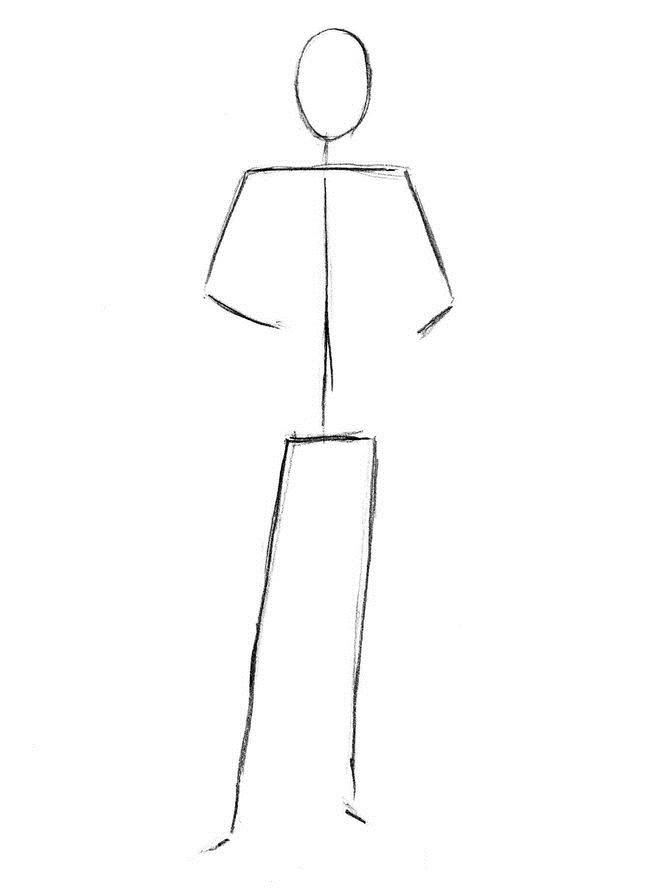 Нарисовать врача карандашом поэтапно
