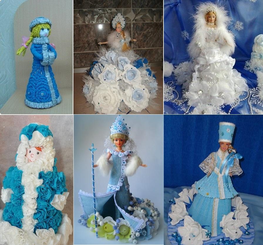 Дед Мороз и Снегурочка своими руками. Поделки, шаблоны, мастер-классы