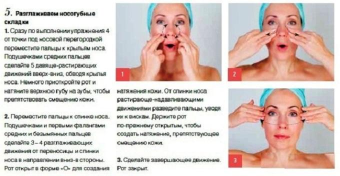 Как разгладить морщины на носогубной