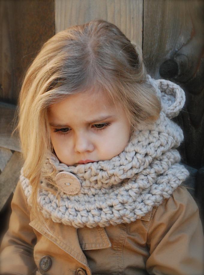Вязание крючком ребенку снуд