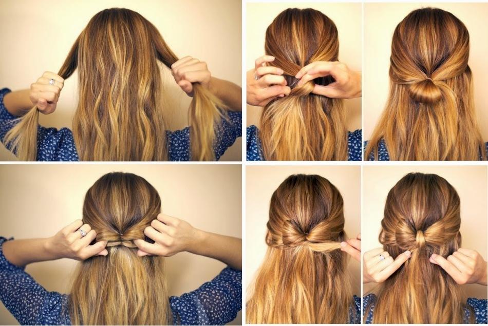 Прически на длинные волосы фото в домашних условиях