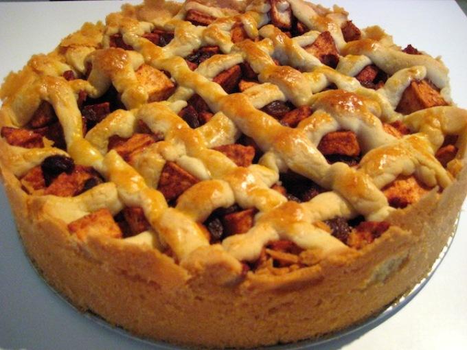 рецепт пирога на кефире с яблочным повидлом