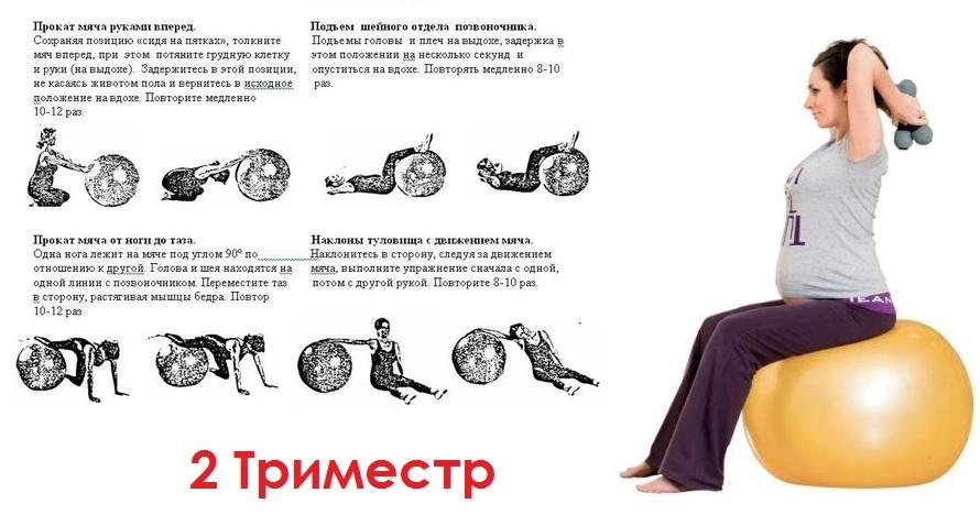 Гимнастика для беременных 2 триместр в домашних условиях 80