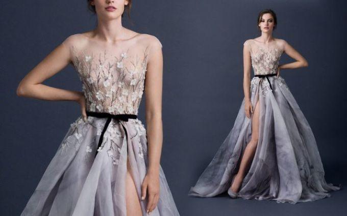 Шикарное необычное платье
