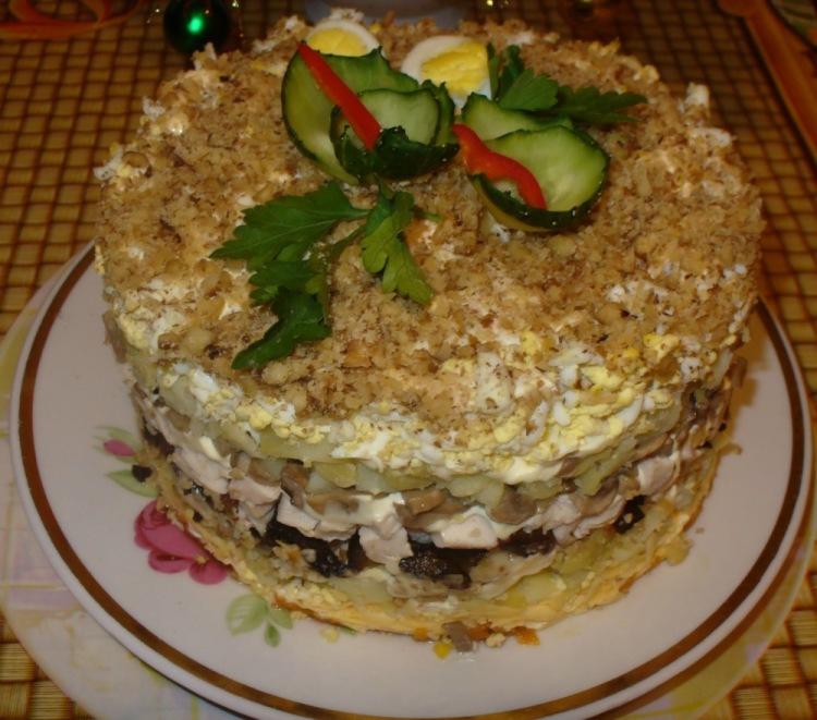 Слоёные салаты с черносливом рецепты с