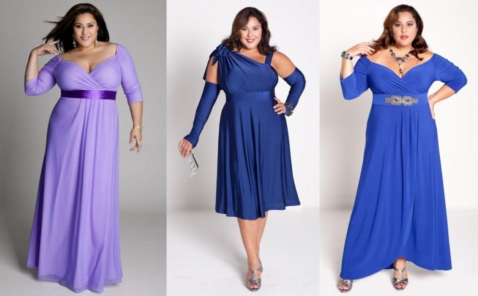 Новые модели платья для полных лета