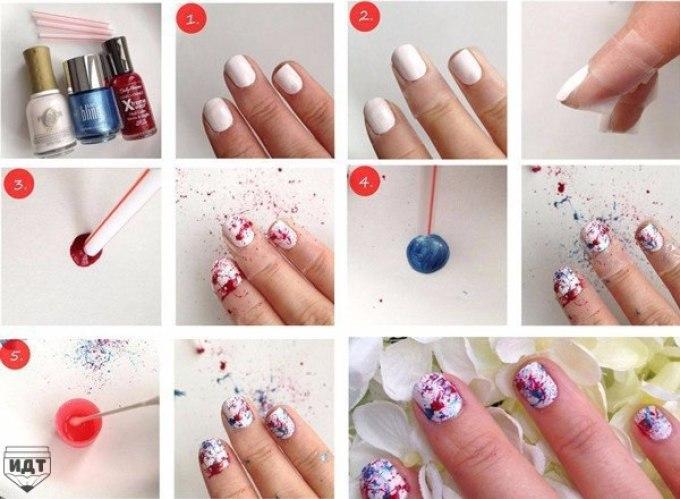 Как украсить ногти в домашних условиях своими руками 98