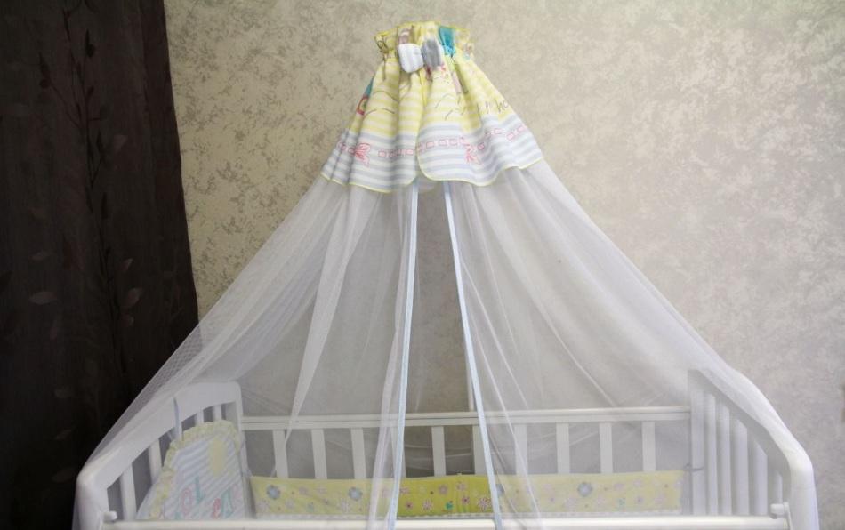 Кроватка с балдахином для новорожденного своими руками 91