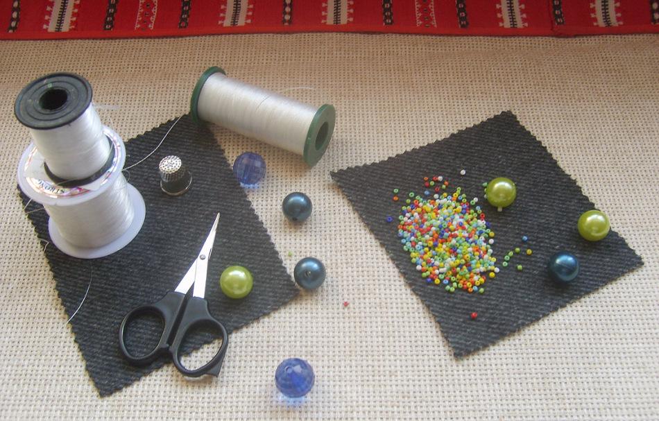 Вышивка бисером нитка-иголка