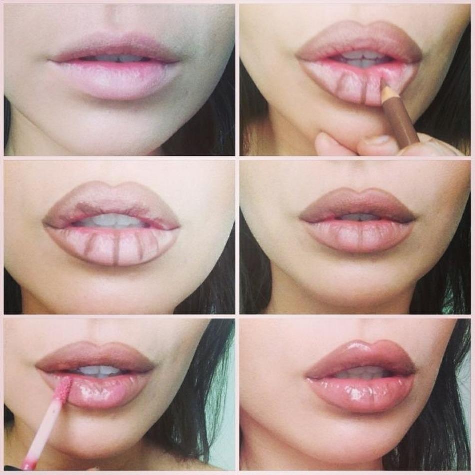 Как увеличить губы без операции? 12 способов увеличить губы: фото до и после