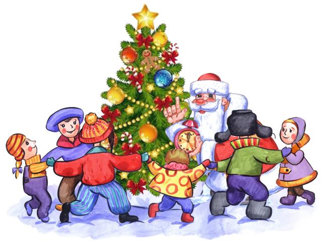 новый год-детские картинки