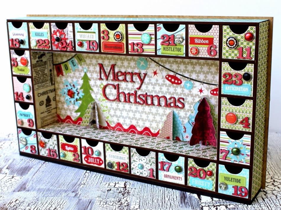 Рождественский адвент-календарь в виде таинственных коробочек