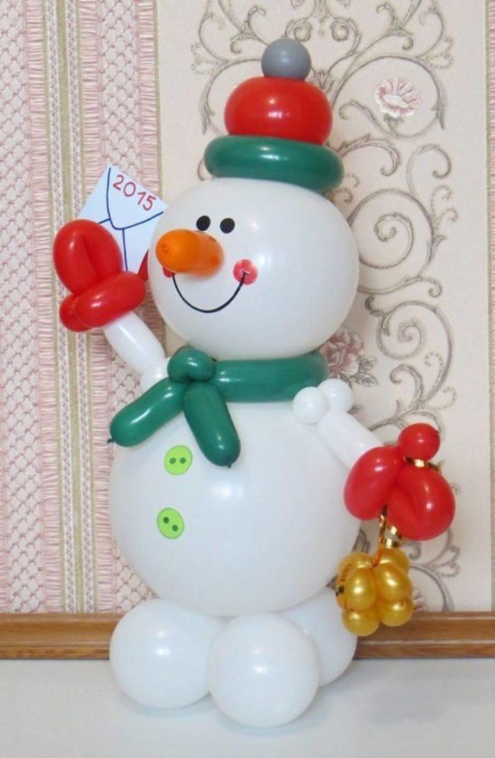 Новогодний подарок из шаров 331