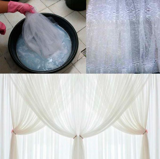 Как покрасить тюль в домашних условиях фото