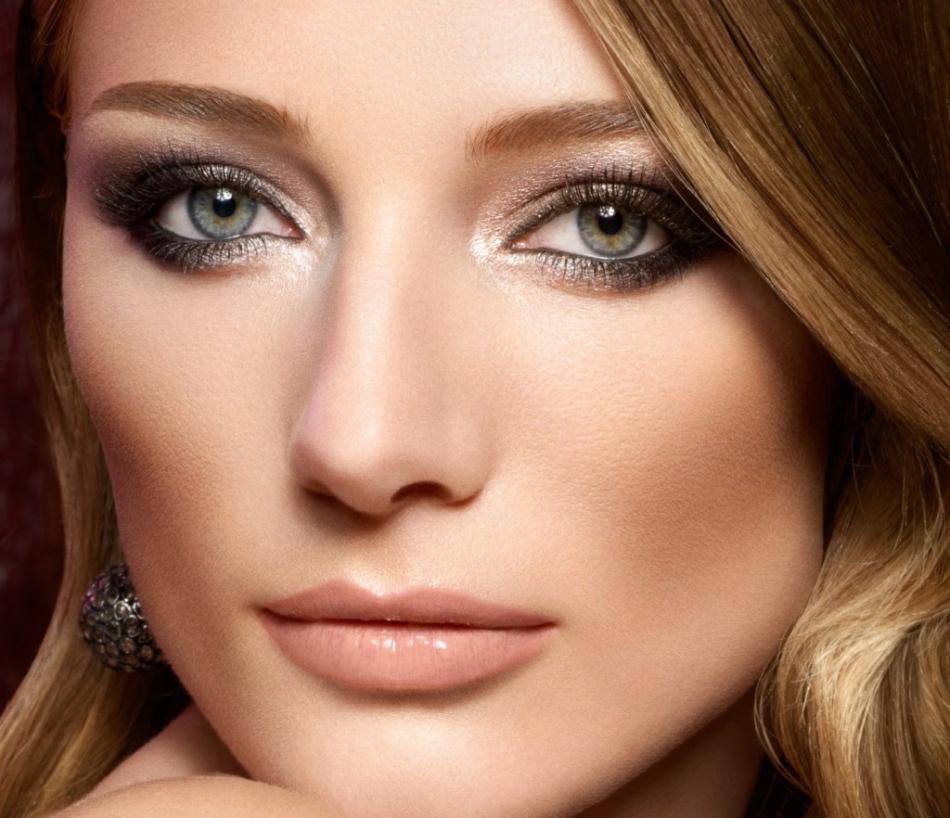 Вечерний макияж для карих глаз блондинок