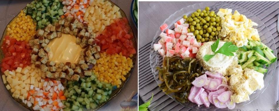 Салат радуга рецепт пошагово на зиму