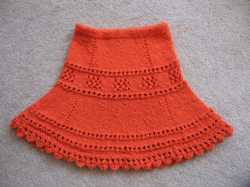 Как вязать юбку для девочки 1 год