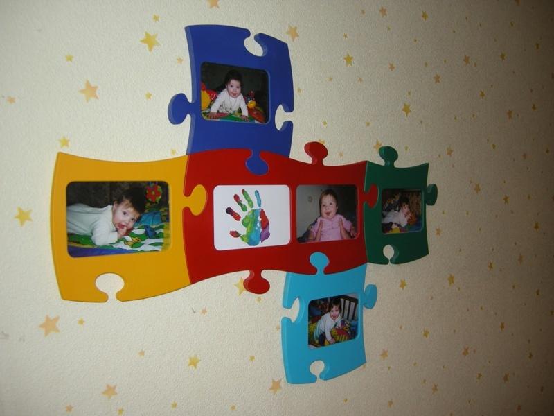Фоторамки своими руками в детскую комнату 38