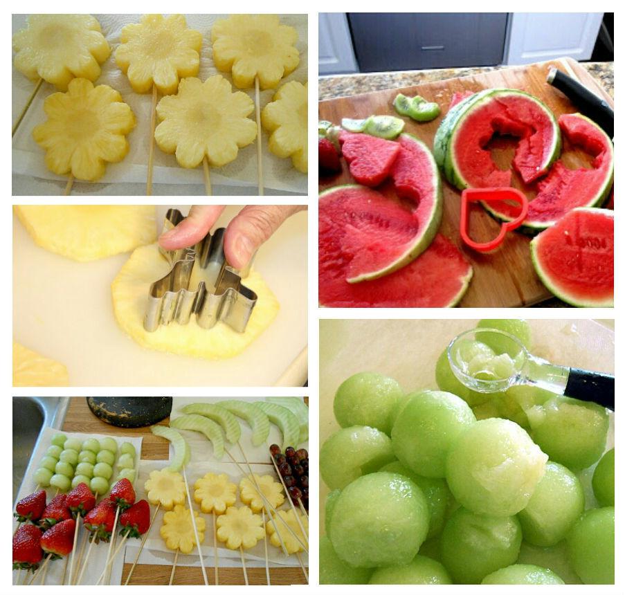 Как сделать фруктовый букет пошагово
