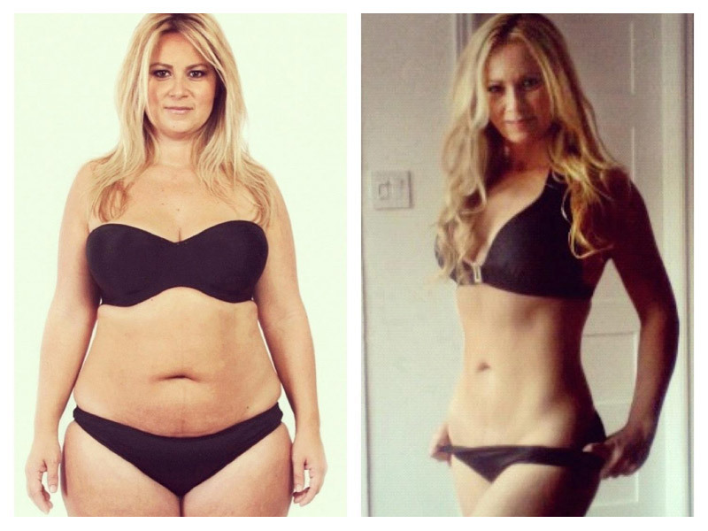 фото сушки тела до и после