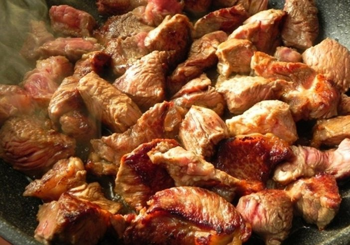 Свинина пожарить на сковороде кусочками рецепт