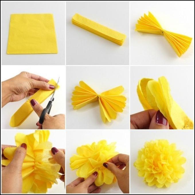 Цветы из гофрированной бумаги своими руками пошагово фото 10