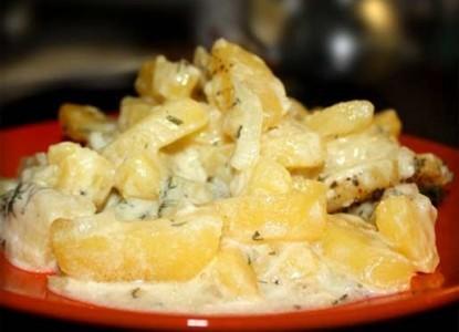 картофель дольками в духовке рецепт сметана