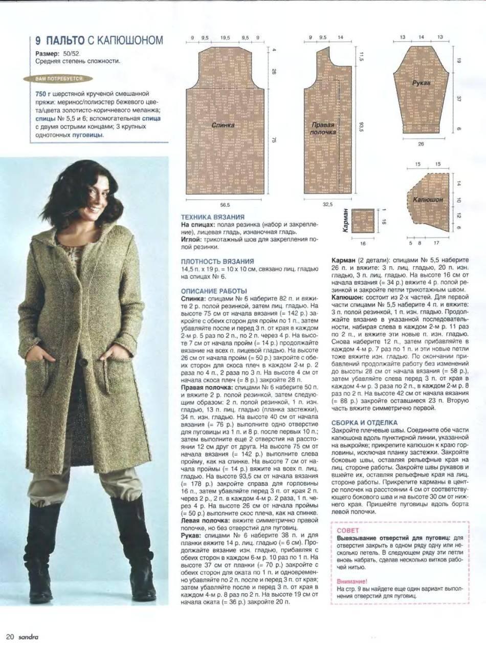 Вязание пальто схемы описание