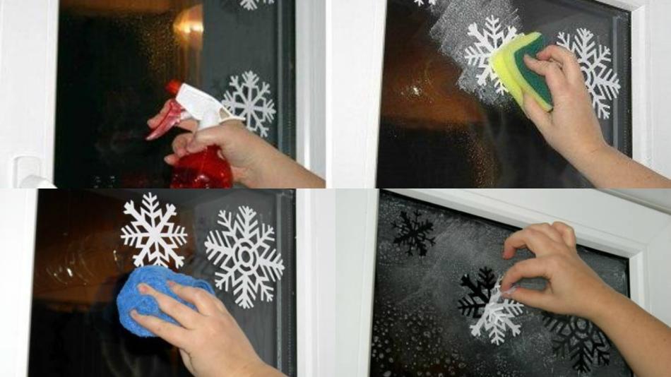 Снежинки на окна из бумаги к новому году своими руками