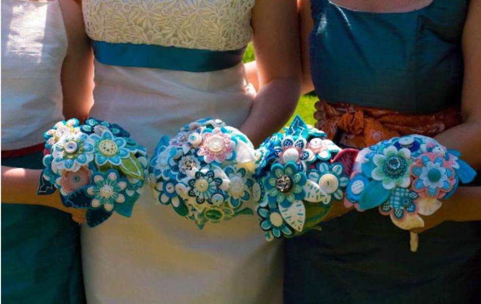 Свадебный букет своими руками из фетра