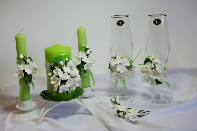 Как оформить своими руками свечи на свадьбу