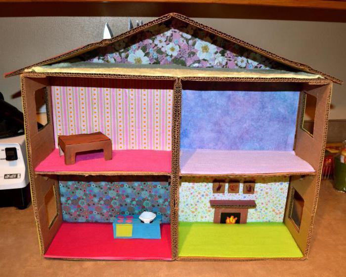 Как сделать из простого картона дом 2