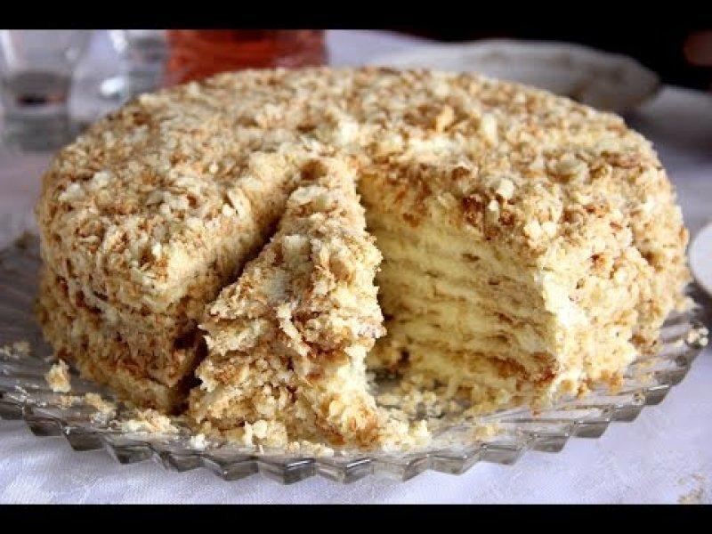 рецепт торта наполеон без выпечки из ввафельных коржей