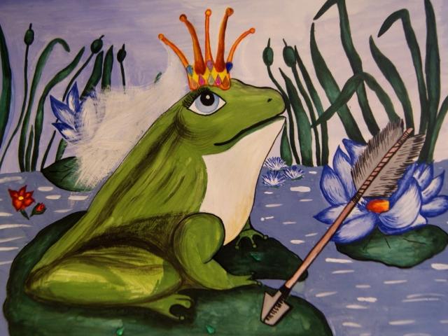картинки царевна лягушка карандашом
